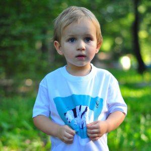 Детска тениска Бели мечки